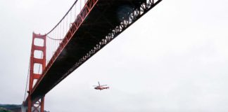 Helicopter Golden Gate Bridge
